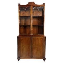 English George III Mahogany Gillows Glazed Bookcase, circa 1780