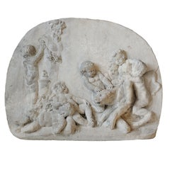 French Louis XV Architectural Plaque Depicting Putti at Play, circa 1780