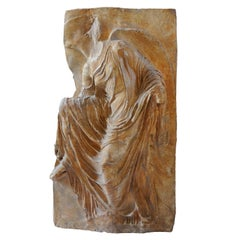 Large Early 19th Century Museum Plaster Copy of the Greek 'Winged Goddess' Nike