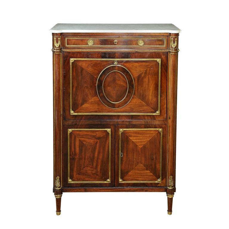french louis xvi mahogany secretaire bureau circa 1780 for sale at 1stdibs. Black Bedroom Furniture Sets. Home Design Ideas