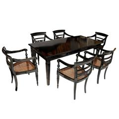 Anglo Indian 19th Century Dining Table and Six Chairs, circa 1890