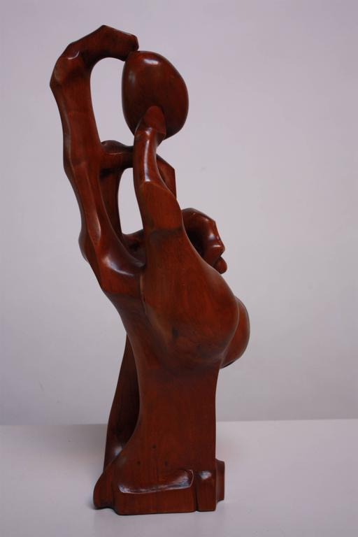 American Craftsman Monumental Carved 'Hand' Sculpture For Sale