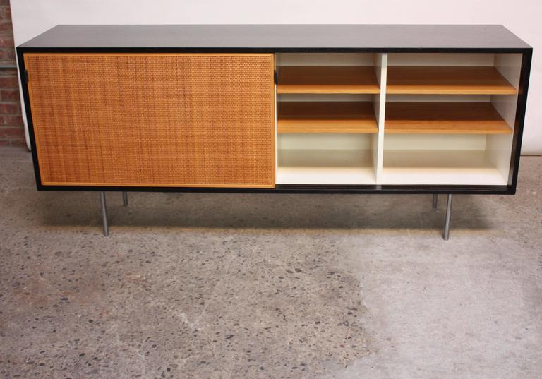 Mid-Century Modern Early Florence Knoll Ebonized Credenza For Sale