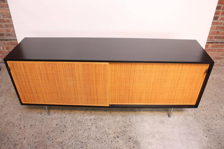 Early Florence Knoll Ebonized Credenza For Sale 1
