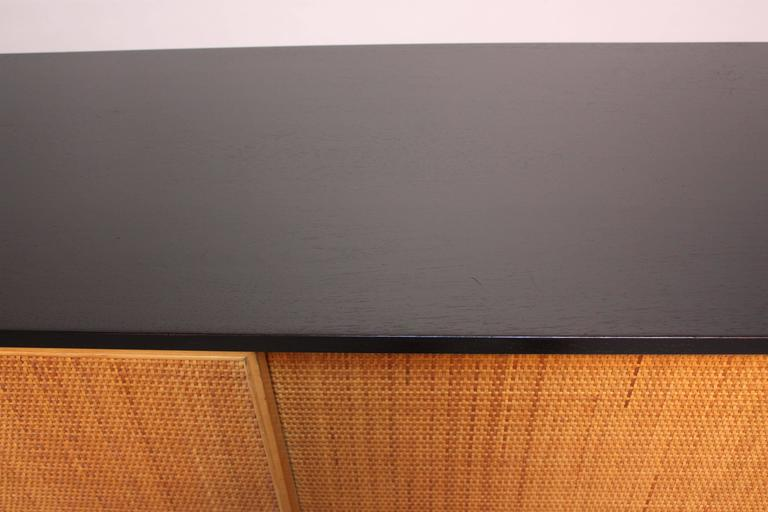 Early Florence Knoll Ebonized Credenza For Sale 3