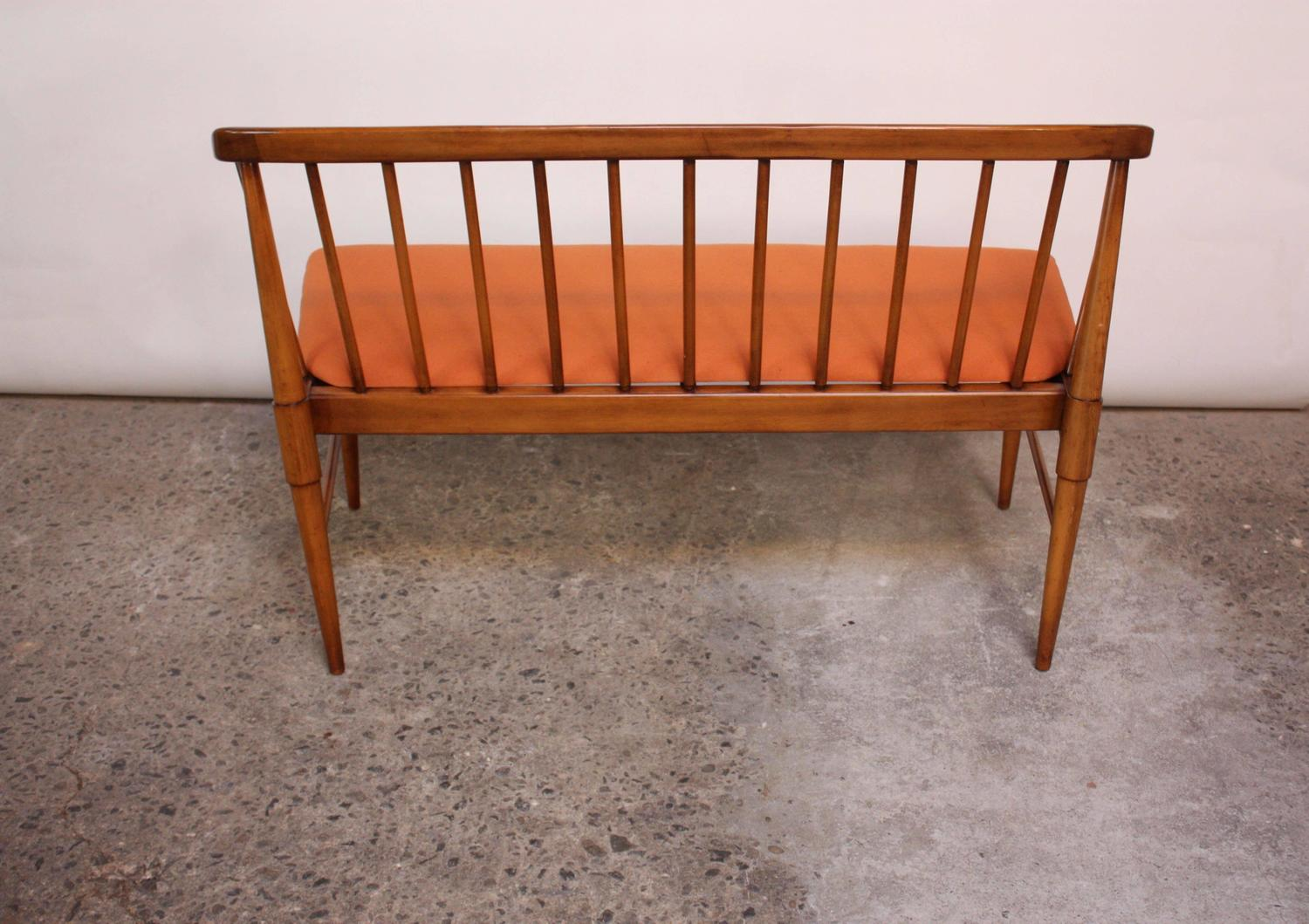 Mid Century Modern Spindle Back Bench For Sale At 1stdibs