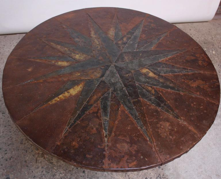Mid-20th Century Mixed-Metal Nautical 'Anchor' Dining Table 3