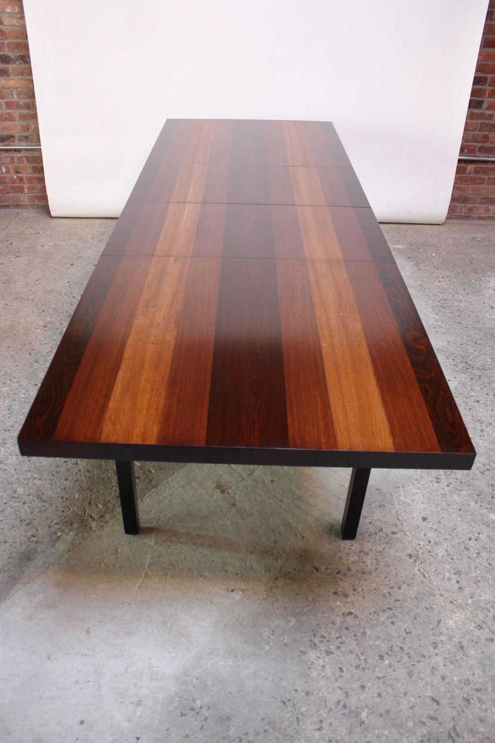 Milo Baughman Mixed Wood Dining Table For Directional For