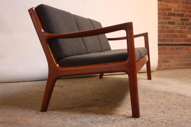 Mid-Century Modern Ole Wanscher Teak Senator Sofa for France & Son For Sale