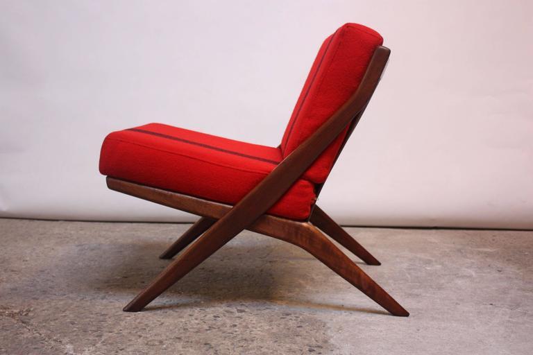 Swedish Scissor Chair By Folke Ohlsson For Dux At 1stdibs