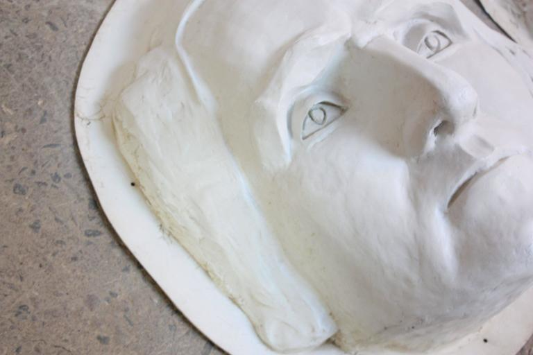 Painted Large Fiberglass Mt. Rushmore Sculptures For Sale