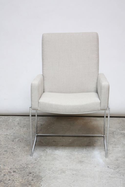 Set of Six Milo Baughman 'Thin Line' Chrome Dining Chairs In Excellent Condition For Sale In Brooklyn, NY