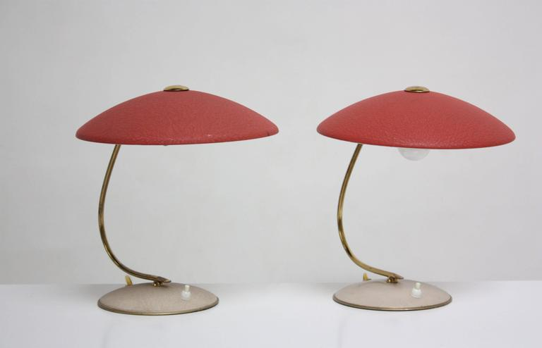 Painted Mid-Century Dutch Table Lamps For Sale