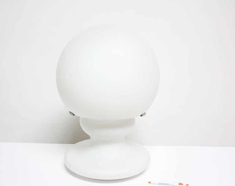 Mid-Century Modern Substantial Mid-Century Italian Modern Cased and Frosted Glass Lamp For Sale