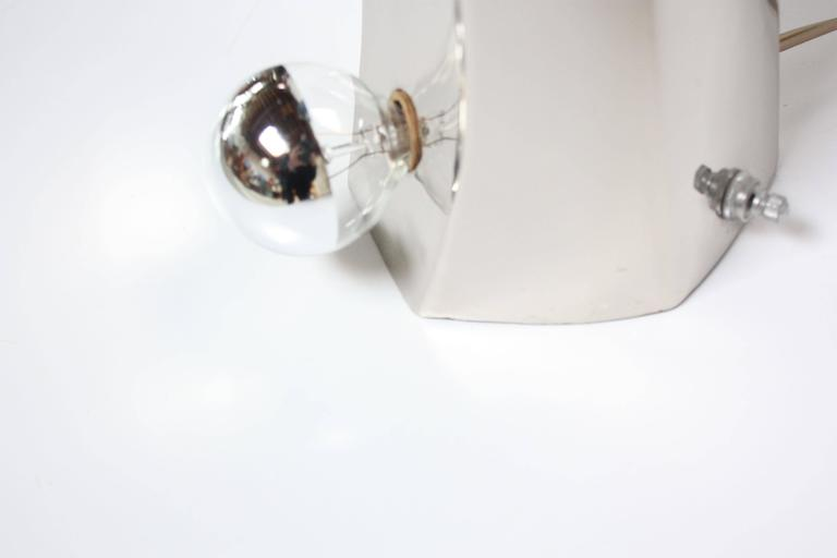 Mid-Century Modern Polished Chrome Free-Form Table Lamps 8