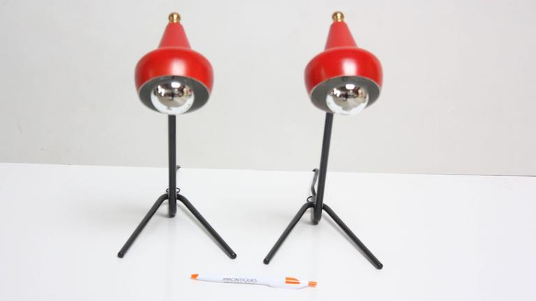 Pair of Petite Italian Table Lamps or Wall Sconces 4