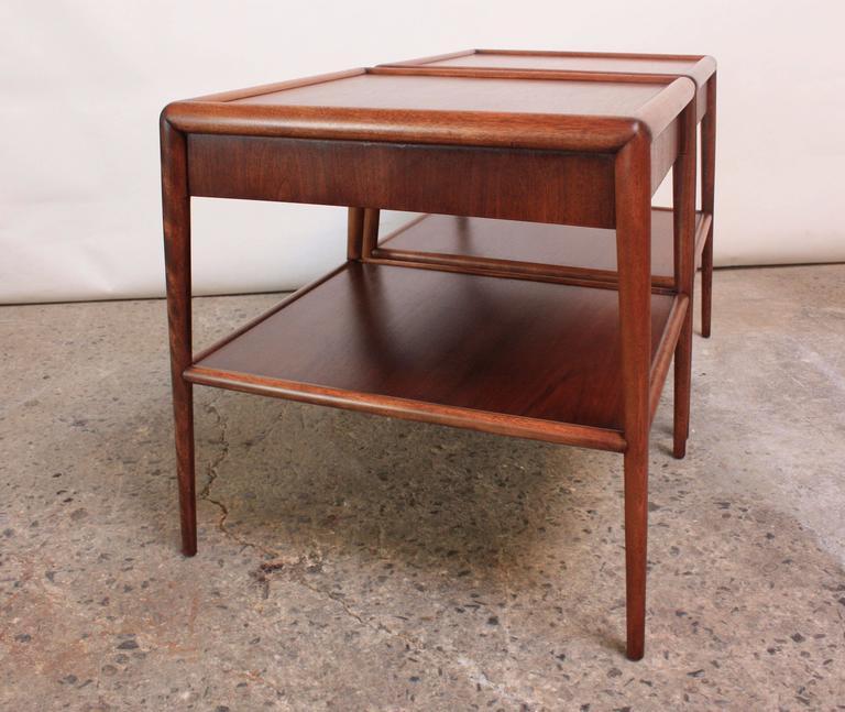 Mid-20th Century Pair of T. H. Robsjohn-Gibbings Single Drawer End Tables For Sale