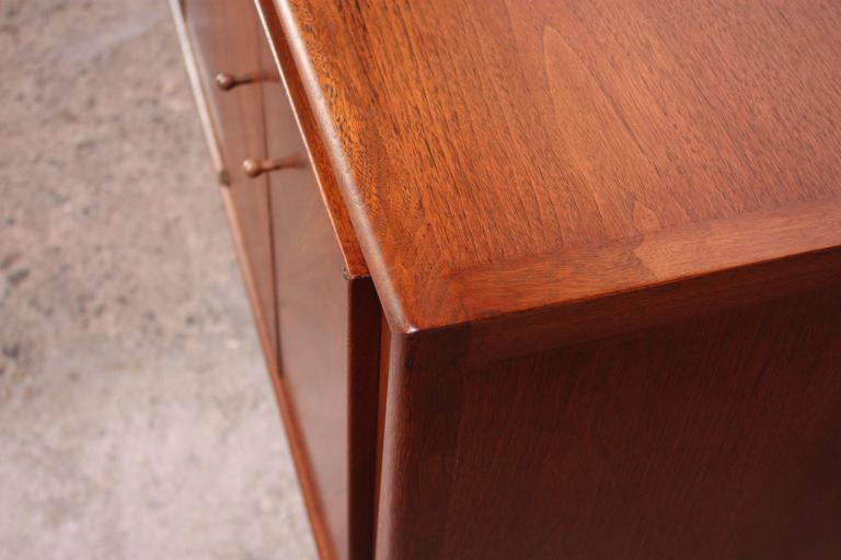 John Stuart Bookmatched Walnut Credenza For Sale 3