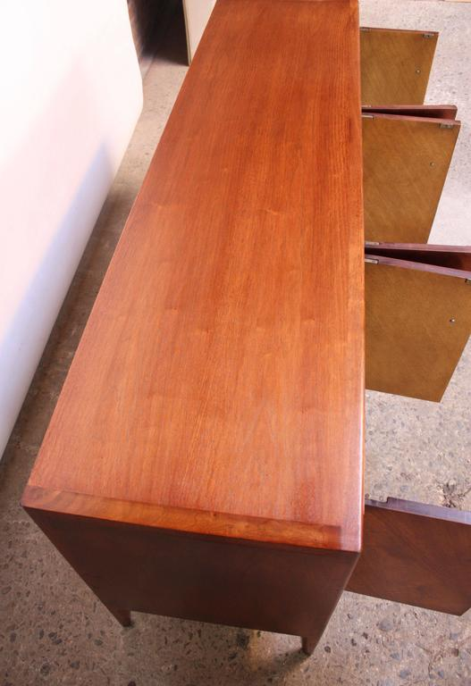 Mid-Century Modern John Stuart Bookmatched Walnut Credenza For Sale