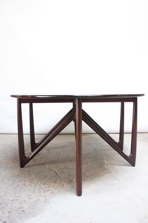 Niels Koefoed Elliptical Rosewood Gateleg 'Eva' Dining Table Model #304 2