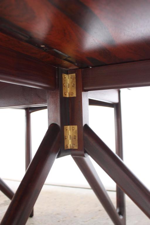 Niels Koefoed Elliptical Rosewood Gateleg 'Eva' Dining Table Model #304 8