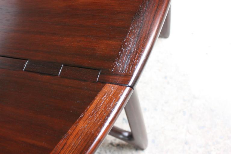 Niels Koefoed Elliptical Rosewood Gateleg 'Eva' Dining Table Model #304 9