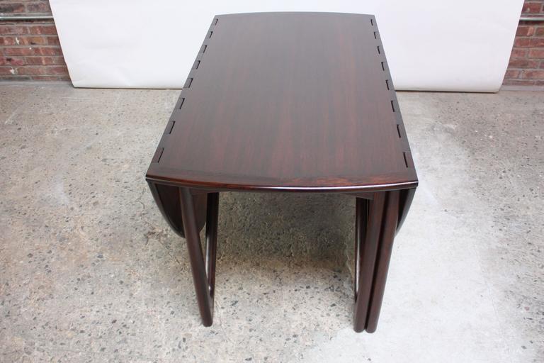Niels Koefoed Elliptical Rosewood Gateleg 'Eva' Dining Table Model #304 6