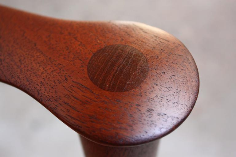 Brass Fredrik Kayser Loveseat in Leather and Teak For Sale