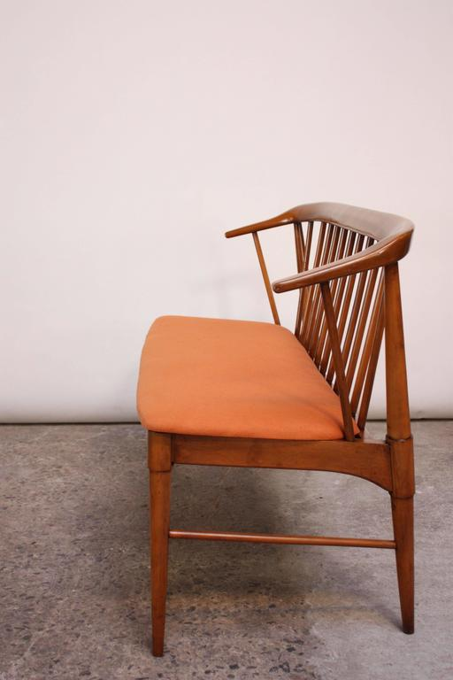 Mid 20th Century Mid Century Modern Spindle Back Bench
