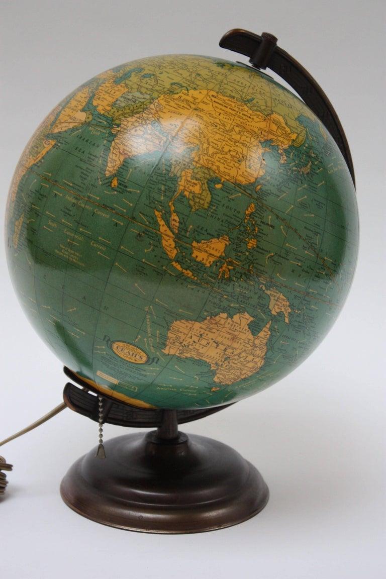 1960s Crams Terrestrial Illuminating Glass Globe At 1stdibs