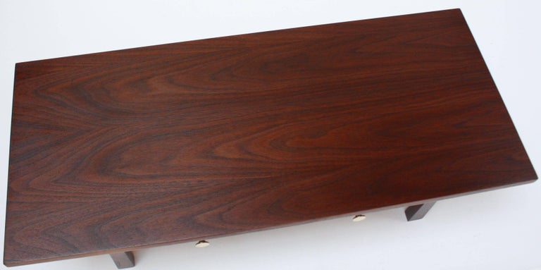 Mid-20th Century Midcentury American Modern Walnut Jewelry Chest For Sale