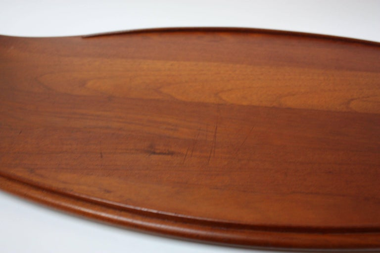 Nest of Three Staved Teak Serving Trays by Jens Quistgaard for Dansk For Sale 3