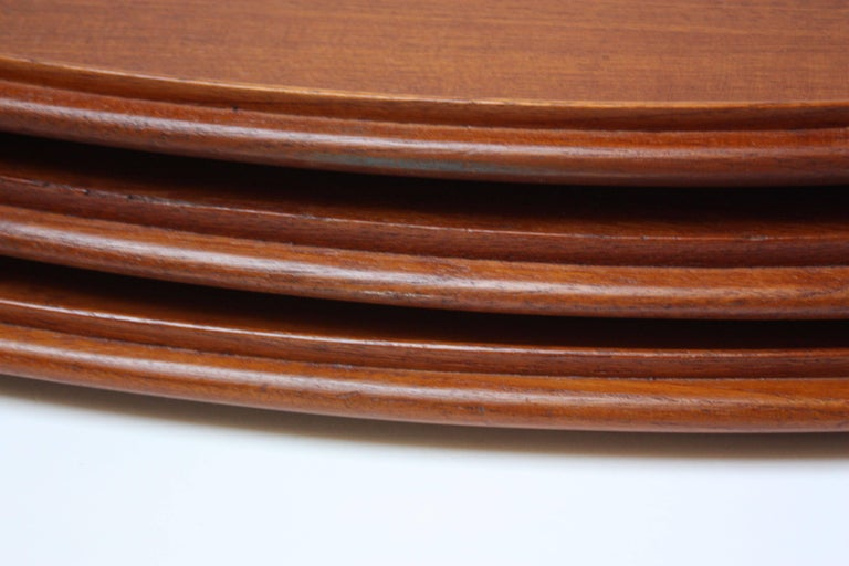 Nest of Three Staved Teak Serving Trays by Jens Quistgaard for Dansk For Sale 1