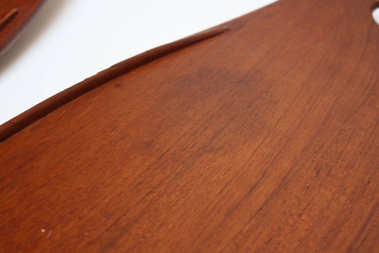 Nest of Three Staved Teak Serving Trays by Jens Quistgaard for Dansk For Sale 2