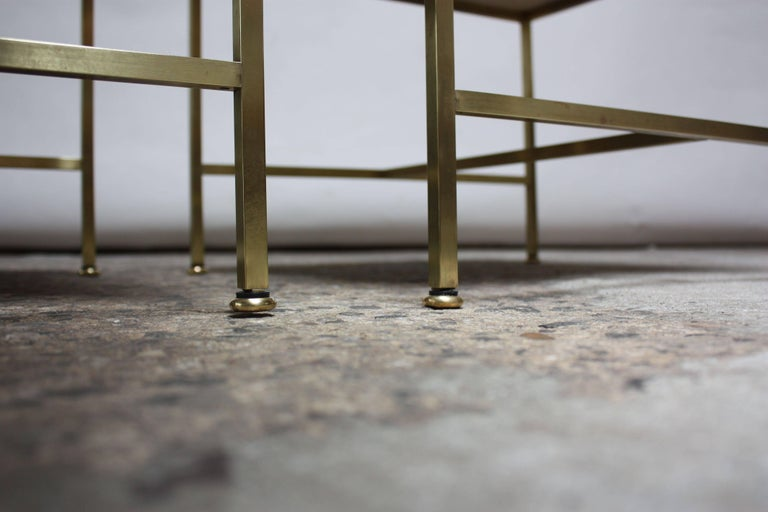 Paul McCobb Travertine and Brass Occasional Tables For Sale 10