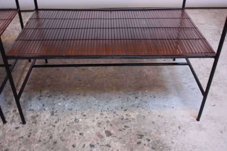 Pair of Paul McCobb 'Planner Group' Iron and Maple Occasional Tables For Sale 3