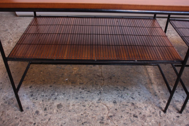 Pair of Paul McCobb 'Planner Group' Iron and Maple Occasional Tables For Sale 4