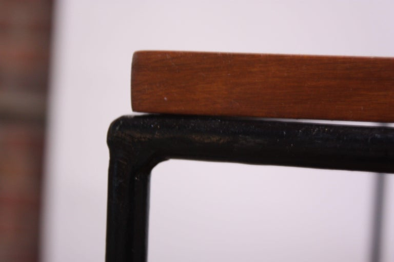 Pair of Paul McCobb 'Planner Group' Iron and Maple Occasional Tables For Sale 10