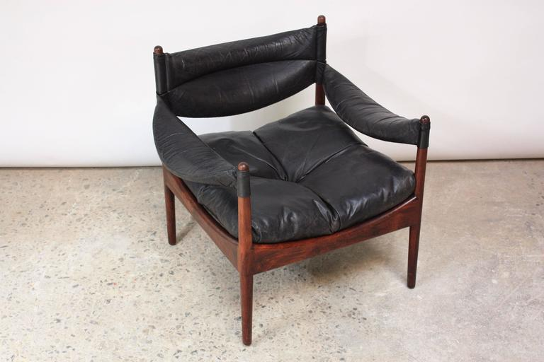 Set of Four Kristian Solmer Vedel 'Modus' Rosewood Lounge Chairs  9