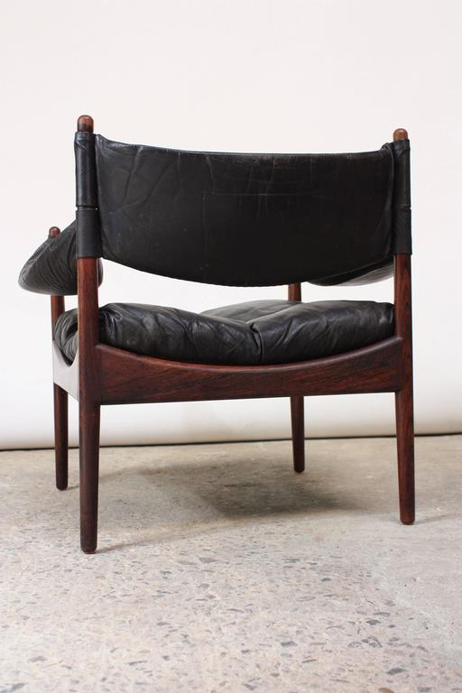 Set of Four Kristian Solmer Vedel 'Modus' Rosewood Lounge Chairs  4