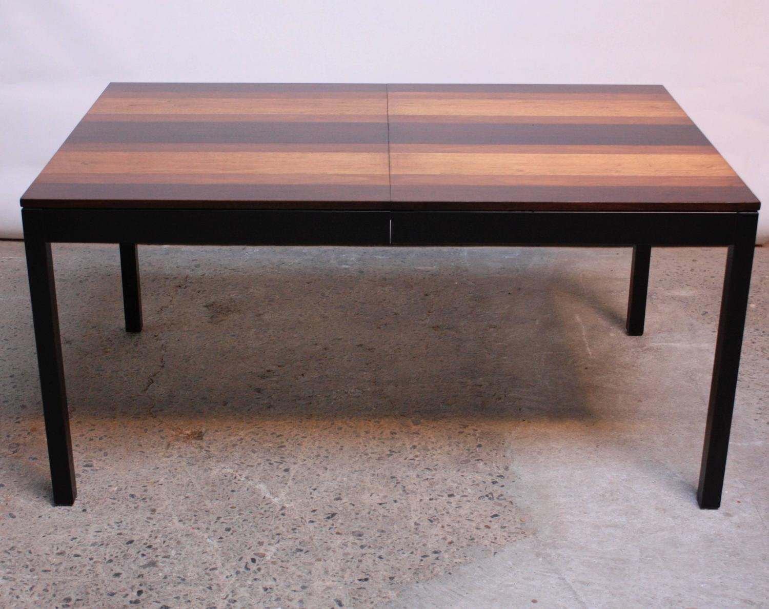 Milo Baughman Mixed Wood Dining Table For Directional At 1stdibs