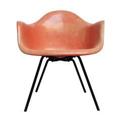 Early Eames Zenith Fiberglass LAX Rope Edge Chair