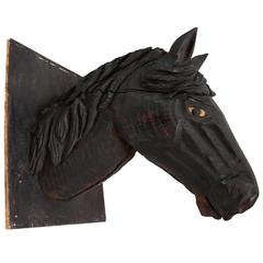 Mountable Hand-Carved Horse Head Trade Sign