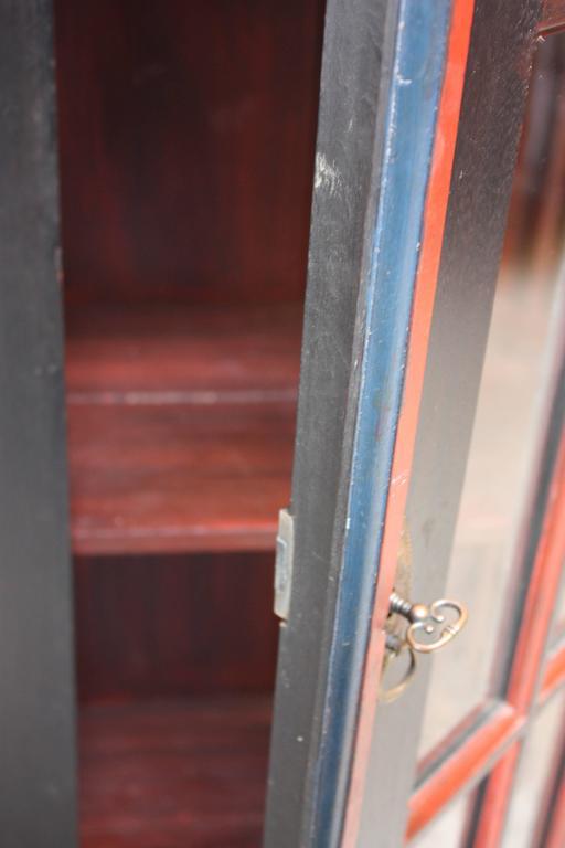 Charming Folk Art Curio Cabinet with Original Paint 5
