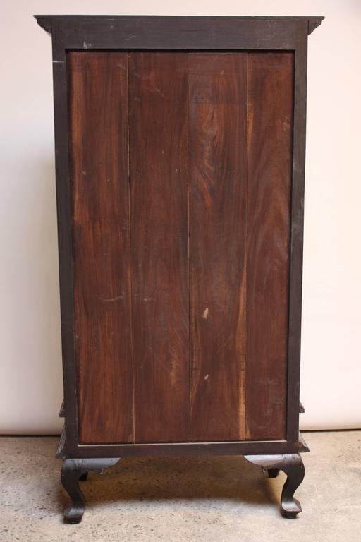 Charming Folk Art Curio Cabinet with Original Paint 9