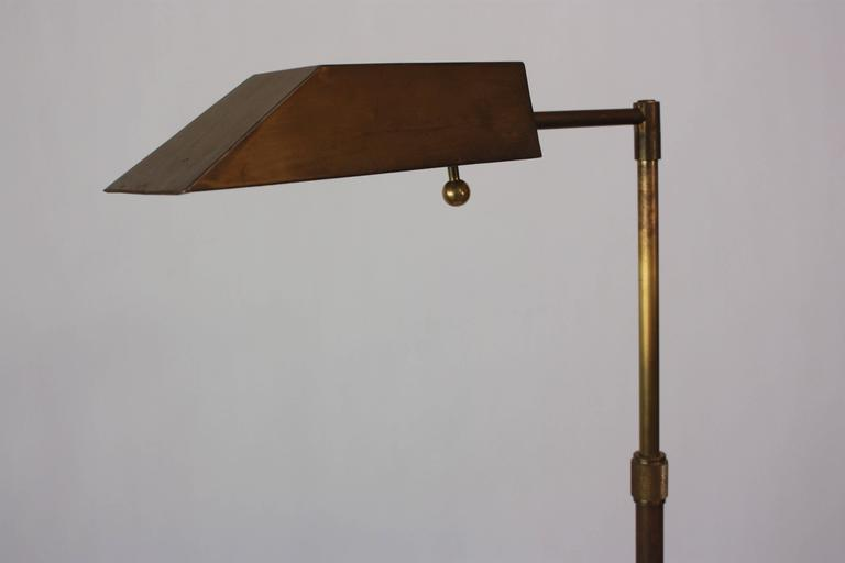 Chapman Brass Tripod Floor Lamp For Sale 2