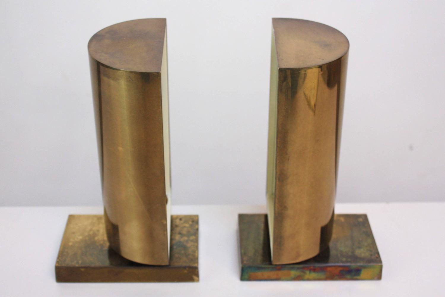 Chapman Brass Wall Sconces : Pair of Chapman Brass Table Scones at 1stdibs