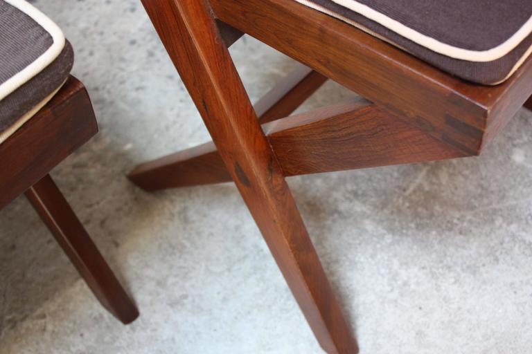Set of Six Pierre Jeanneret Library Chairs in Teak and Cane 3