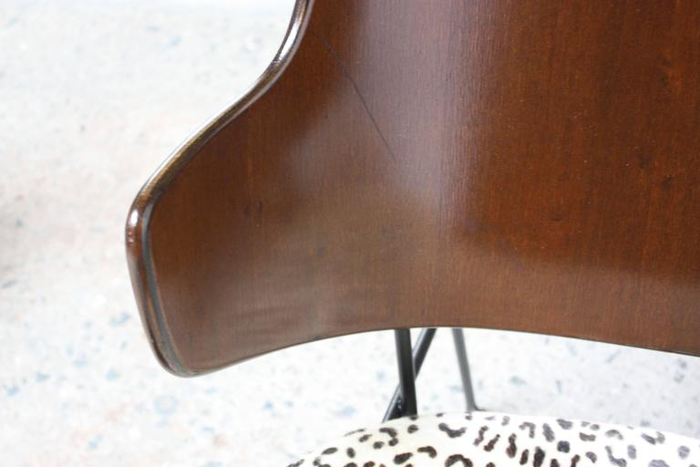 Rare IB Kofod Larsen Penguin Chairs and Ottoman in Leopard Print Appaloosa Hair For Sale 3
