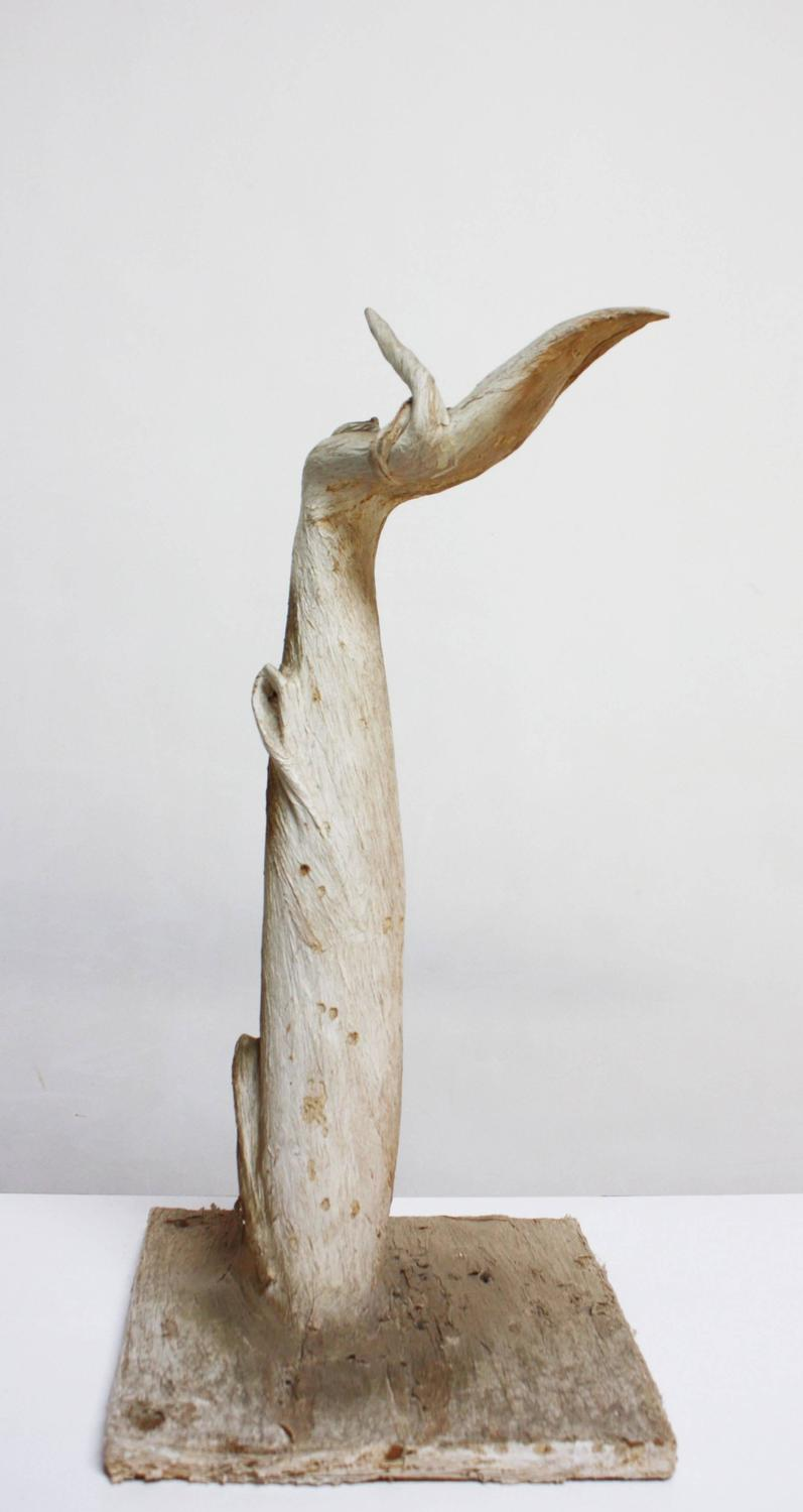 Petrified And Painted Tree Branch 39 Hand 39 Sculpture On Board For Sale At 1stdibs